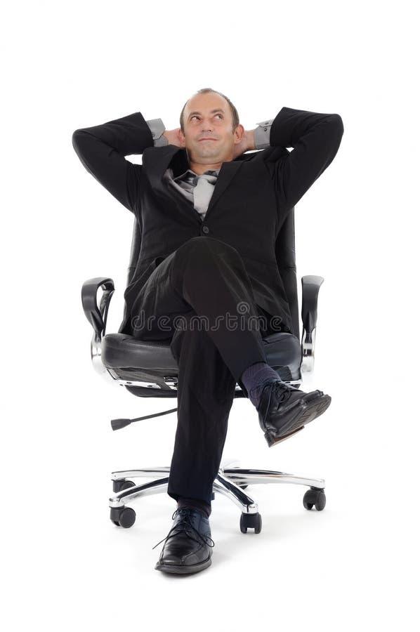 biznesmena krzesło obraz stock
