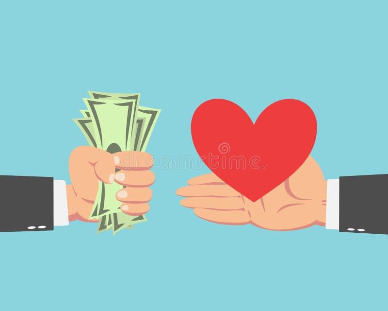 Biznesmena kupienia serce royalty ilustracja