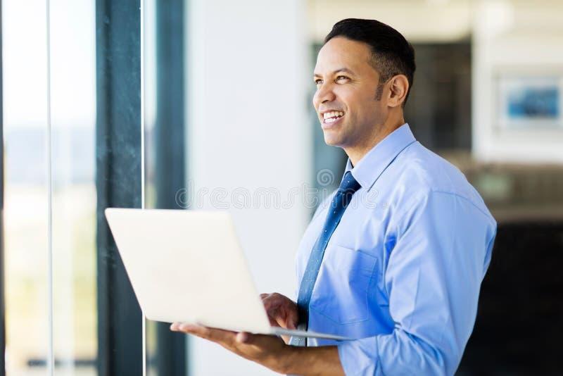 Biznesmena laptop obrazy stock