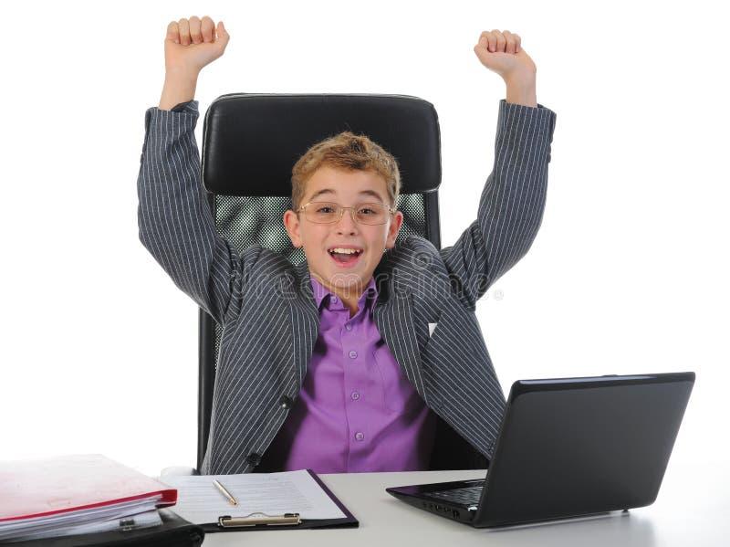 biznesmena laptop używać potomstwo fotografia stock