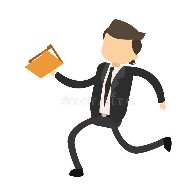 Biznesmena mienia falcówka ilustracji