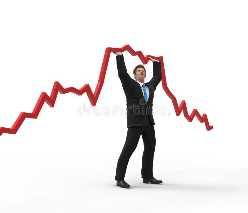Biznesmena mienia wykres ilustracja wektor