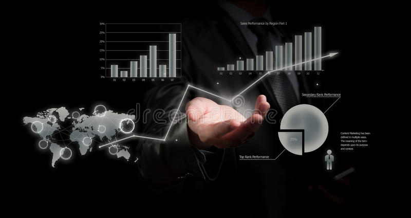 Biznesmena mienia wykres, biznesowy pojęcie zdjęcia royalty free