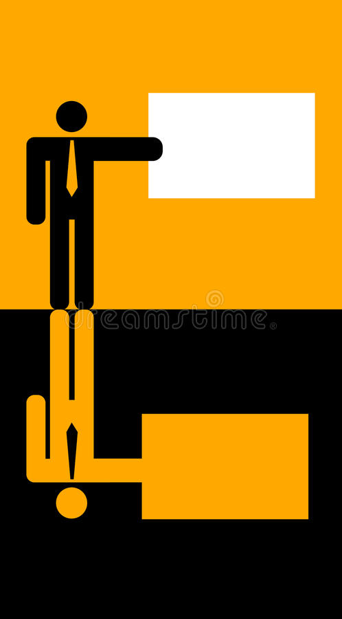 biznesmena mienie karciany graficzny ilustracja wektor