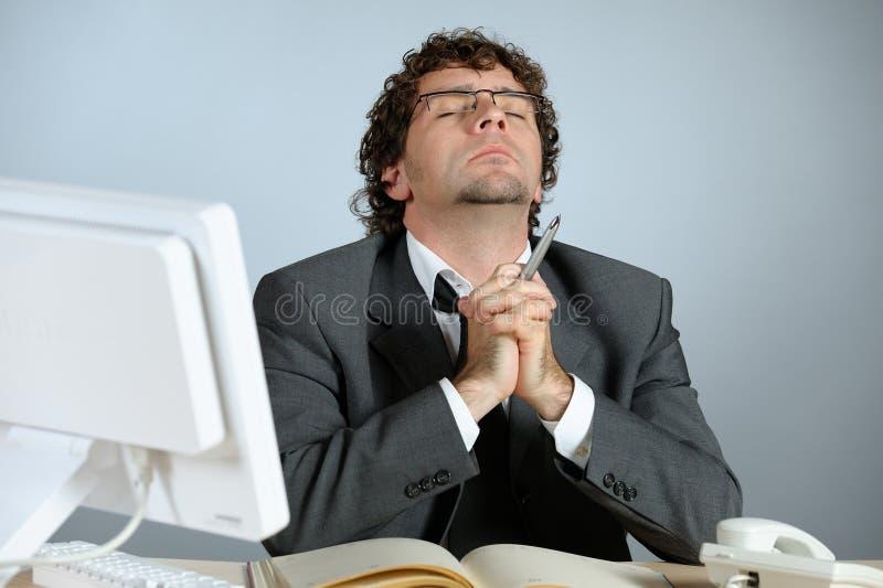biznesmena modlenie zdjęcia royalty free