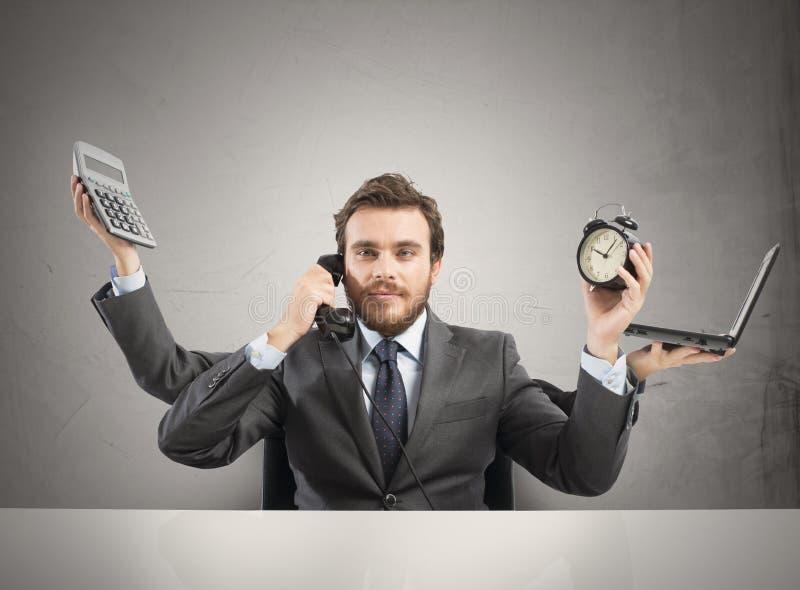 Biznesmena multitasking zdjęcie stock