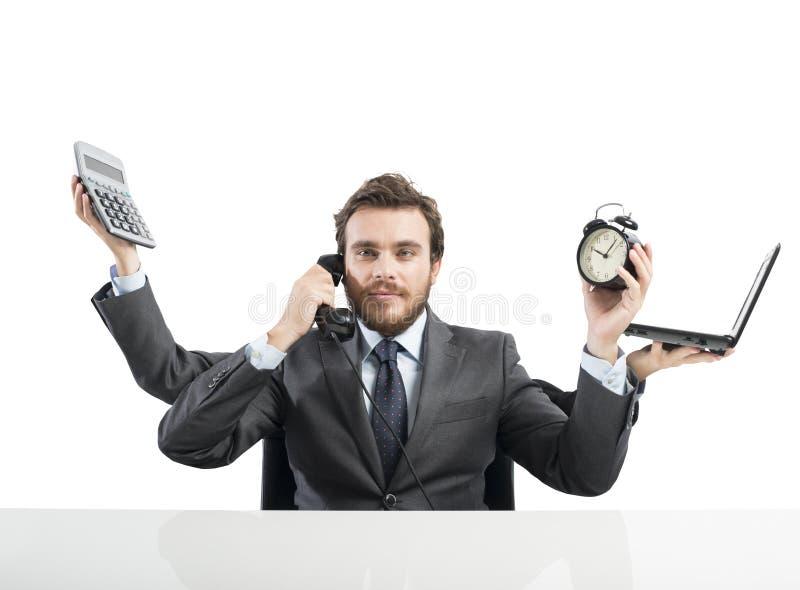 Biznesmena multitasking fotografia stock