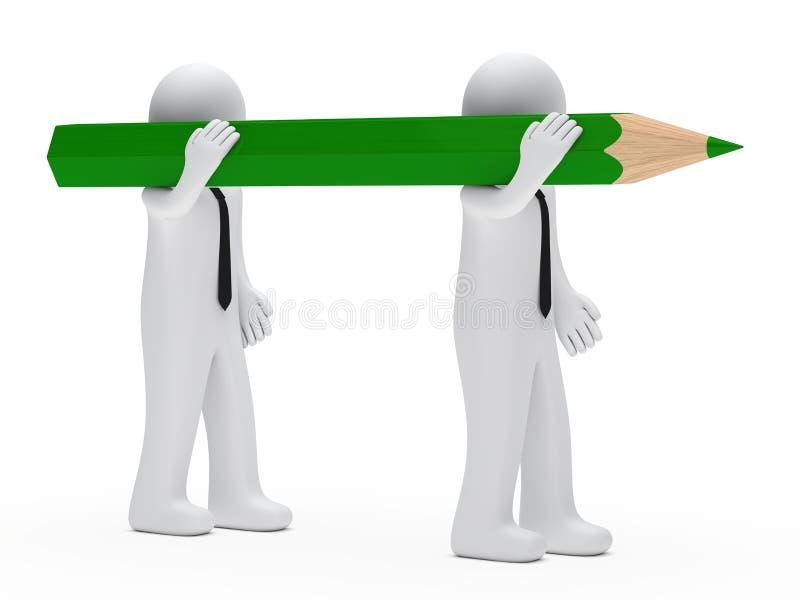 biznesmena ołówek ilustracji