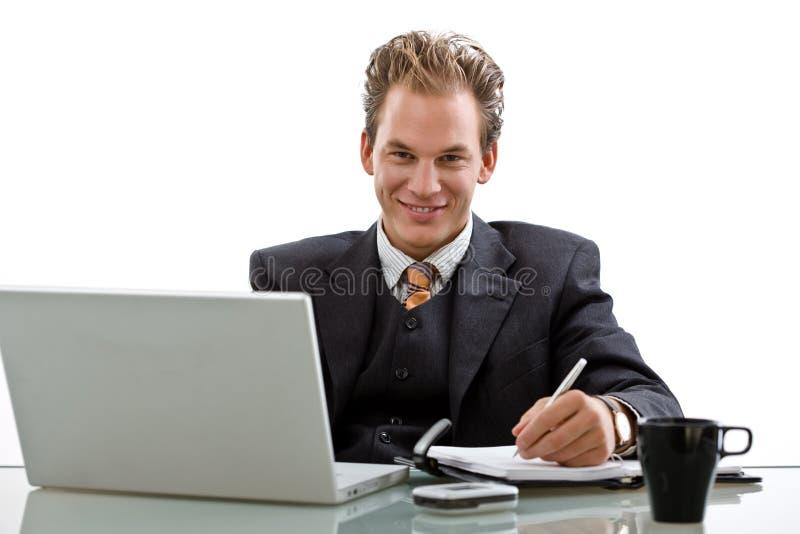 biznesmena odosobniony laptopu działanie zdjęcia royalty free