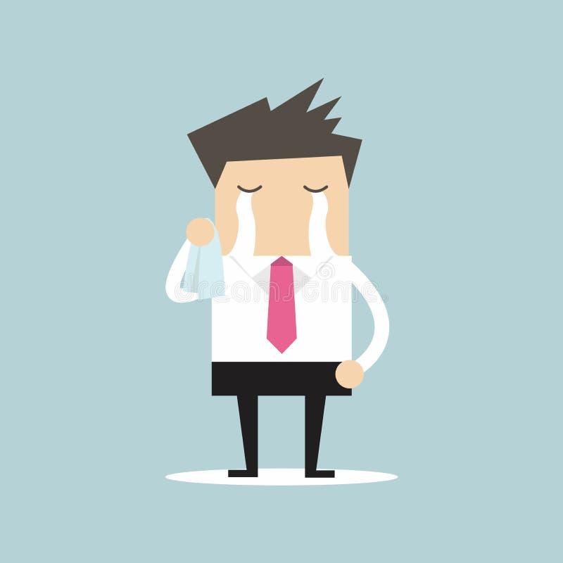 Biznesmena płaczu wektor ilustracja wektor