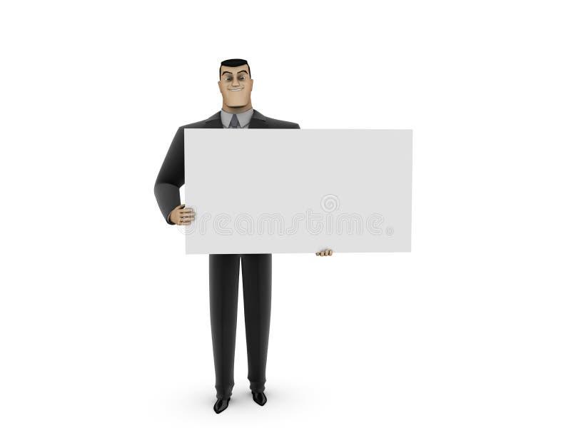 biznesmena panelu biel royalty ilustracja