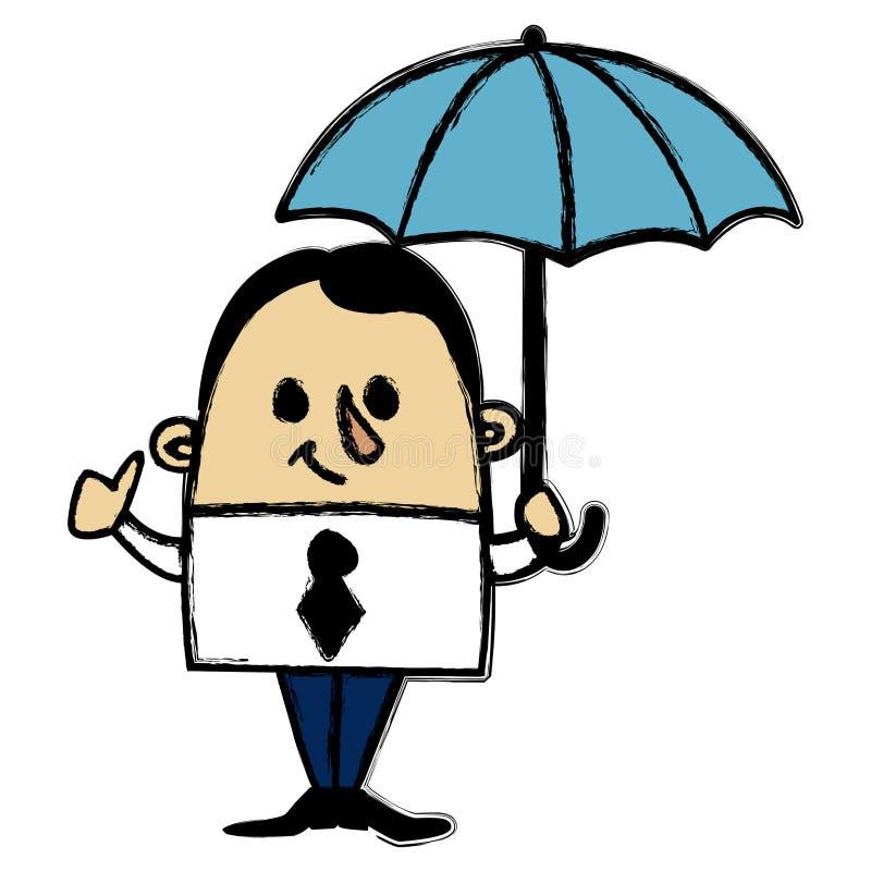 Biznesmena parasol royalty ilustracja