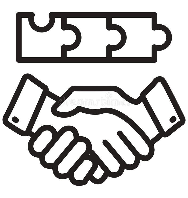 biznesmena partnera linia odizolowywająca wektorowa ikona może łatwo redagować i modyfikująca royalty ilustracja