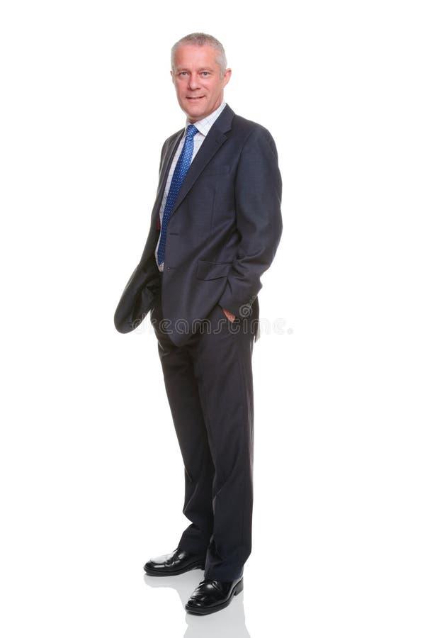 biznesmena pełna ręk długość wkładać do kieszeni portret zdjęcie royalty free