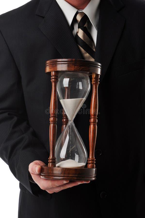 biznesmena piaska zegar zdjęcie royalty free