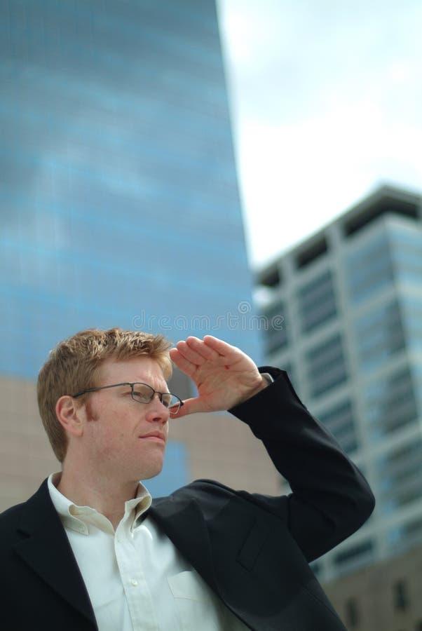 biznesmena poszukiwań obraz stock