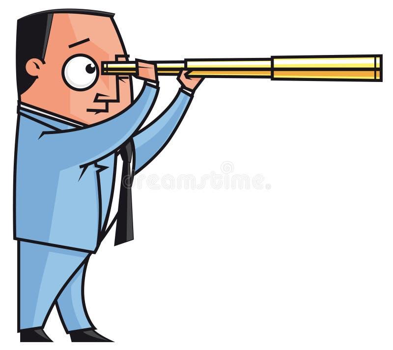 biznesmena przedsiębiorcy horizonts nowy target501_0_ ilustracja wektor