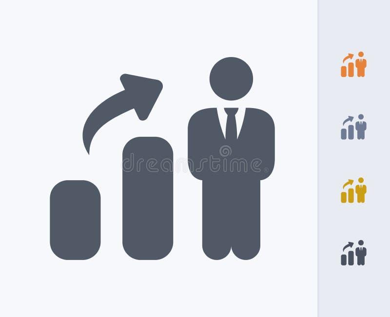 Biznesmena przyrost - węgiel ikony obraz royalty free