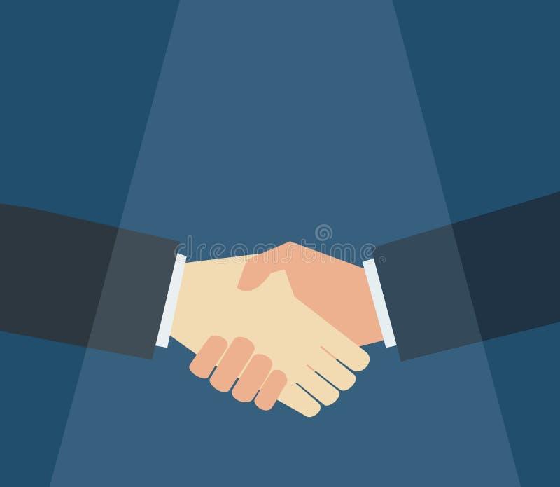 biznesmena ręki chwianie ilustracja wektor