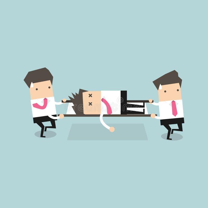 Biznesmena ratunek royalty ilustracja