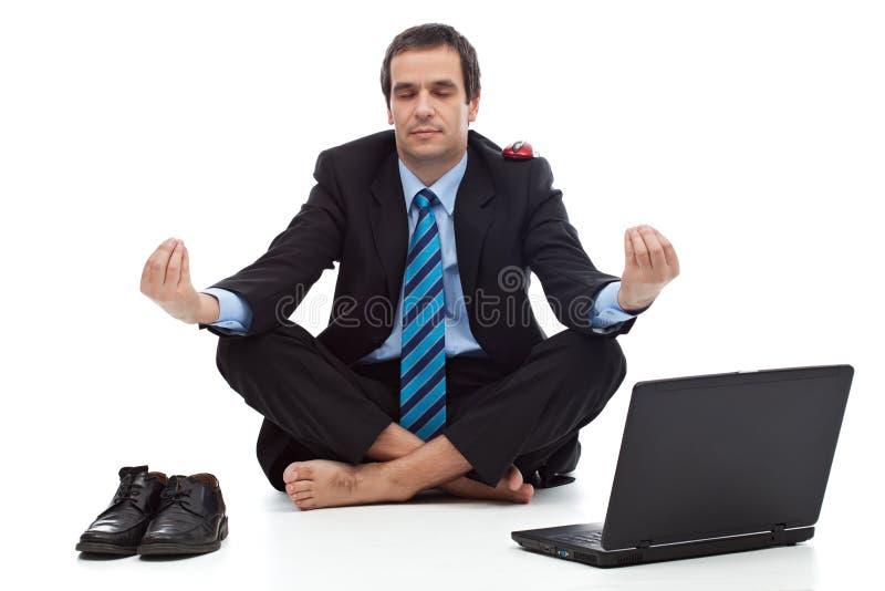 Biznesmena relaksować obraz stock