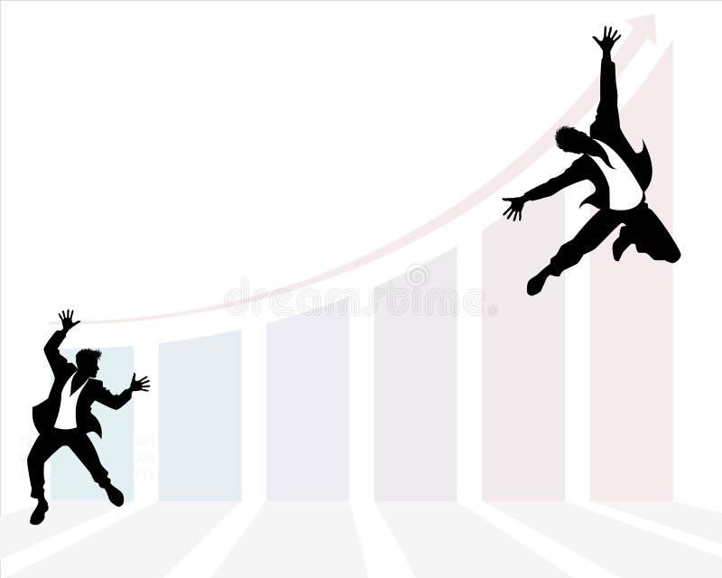 Biznesmena ` s rozwoju skok ilustracji