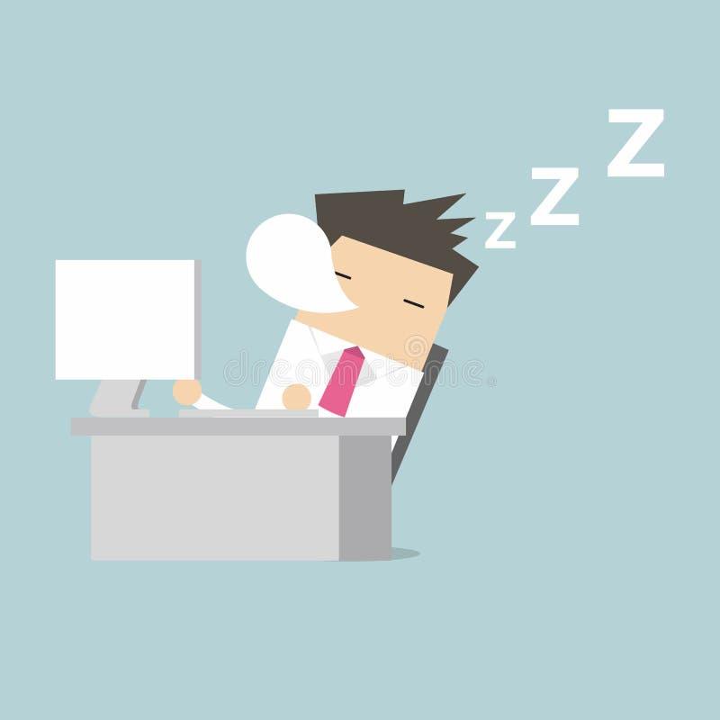 Biznesmena sen podczas pracować royalty ilustracja