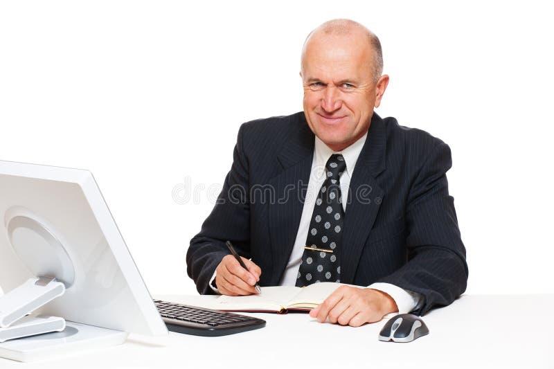 biznesmena seniora smiley obraz royalty free