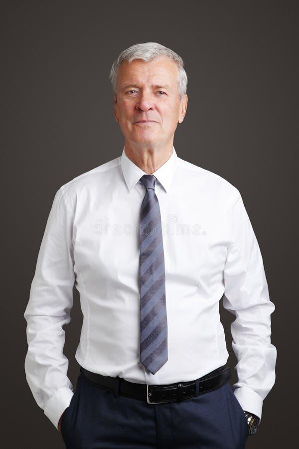 Biznesmena starszy portret obraz royalty free