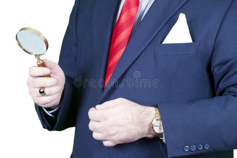 biznesmena szkła target345_0_ zdjęcia stock