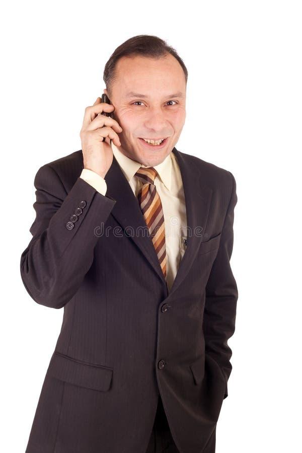 biznesmena telefon komórkowy obraz stock
