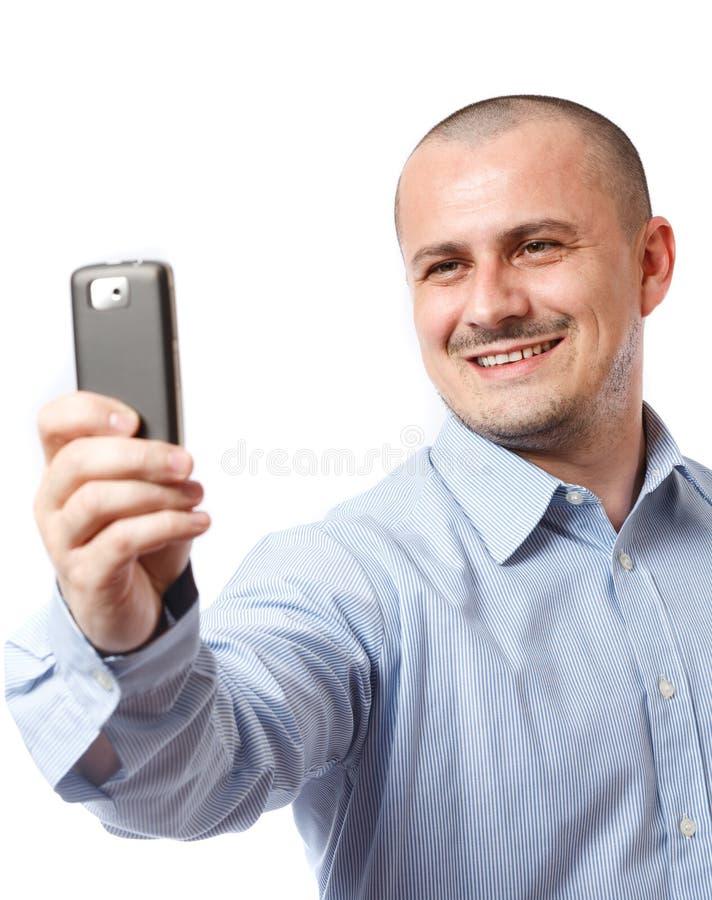 biznesmena telefon komórkowy fotografii zabranie zdjęcie royalty free