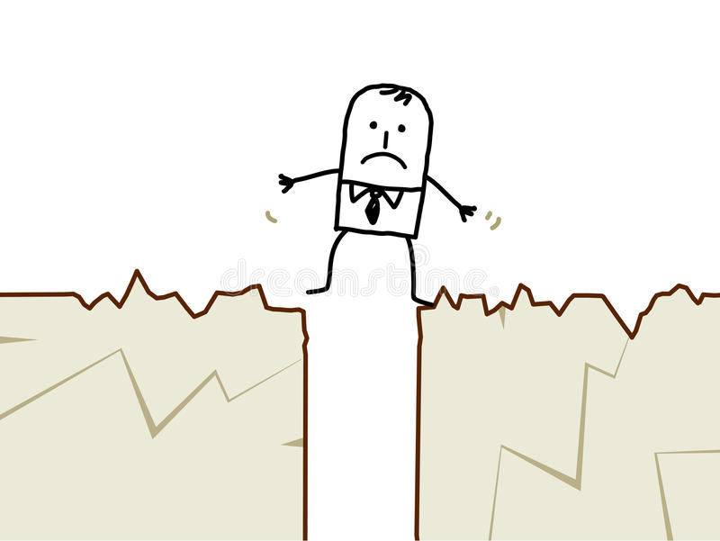 biznesmena trzęsienie ziemi ilustracja wektor