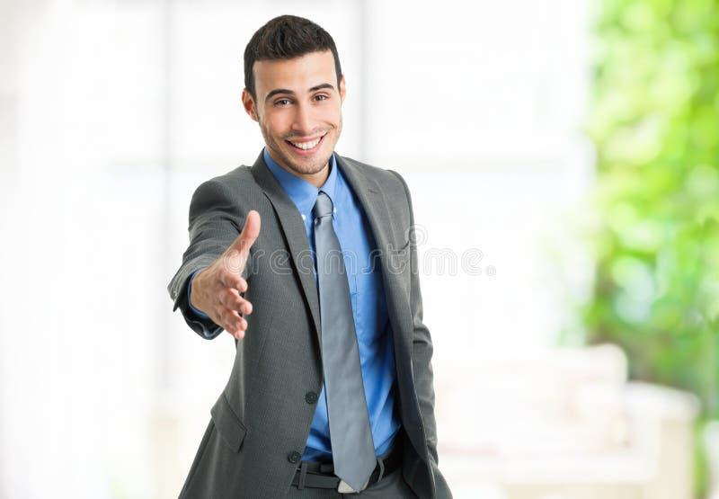 Biznesmena uścisk dłoni zdjęcie royalty free