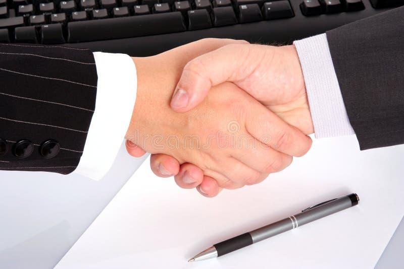 biznesmena uścisk dłoni s zdjęcie royalty free