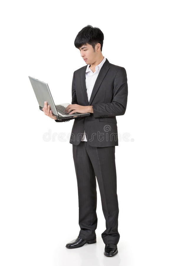 Biznesmena use laptop obraz stock