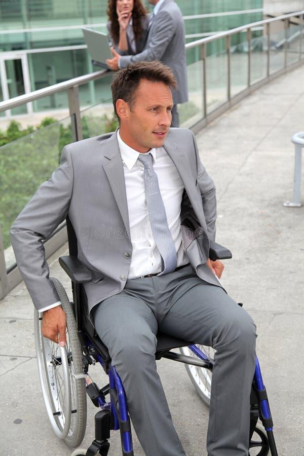 biznesmena wózek inwalidzki obrazy royalty free