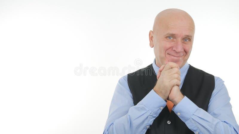 Biznesmena wizerunek Uśmiecha się Szczęśliwych ręka gesty i Robi obrazy stock