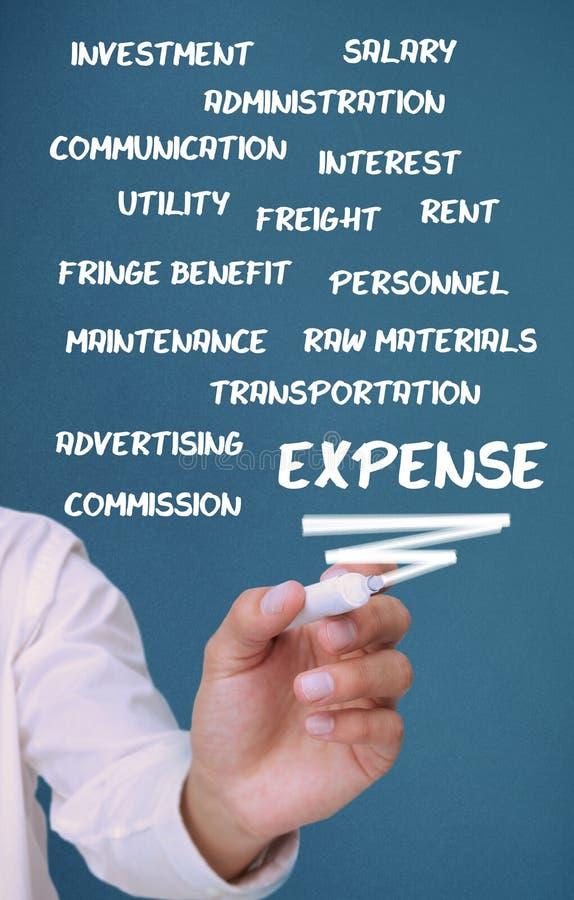 Download Biznesmena Writing Kosztu Terminy Z Markierem Zdjęcie Stock - Obraz: 32232680