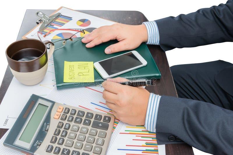 Biznesmena Writing planu biznesowego przyrosta pojęcie fotografia stock