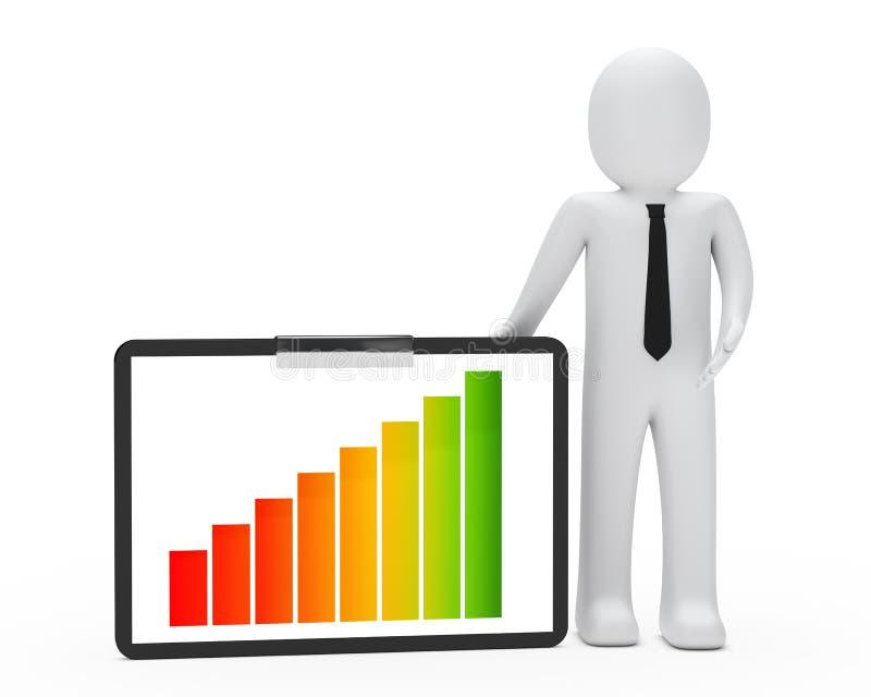 biznesmena wykres ilustracja wektor