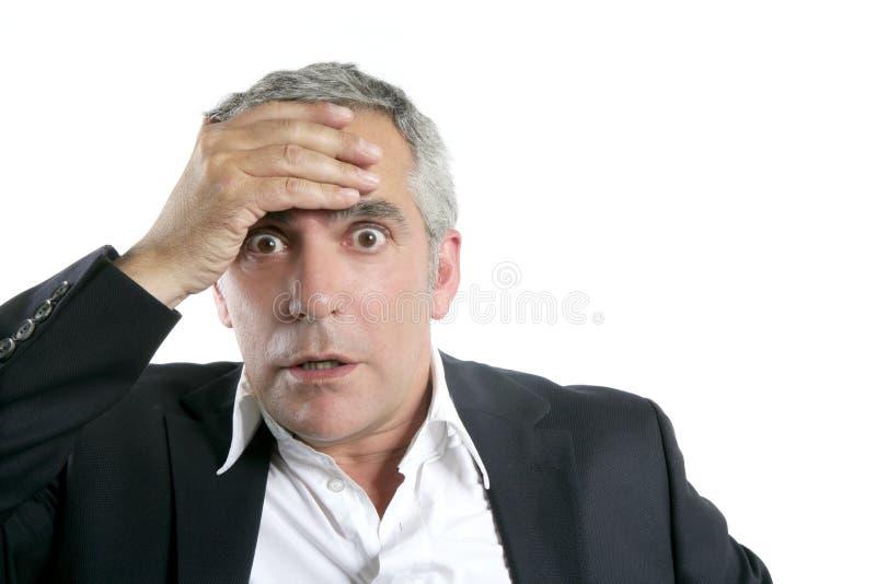 biznesmena zmartwiony wyrażeniowy starszy poważny zdjęcia stock