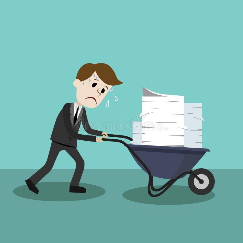 Biznesmena znalezienie himself iść być ruchliwie ilustracji
