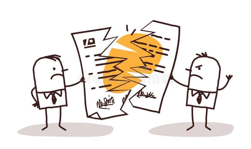 Biznesmeni Łama kontrakt ilustracja wektor