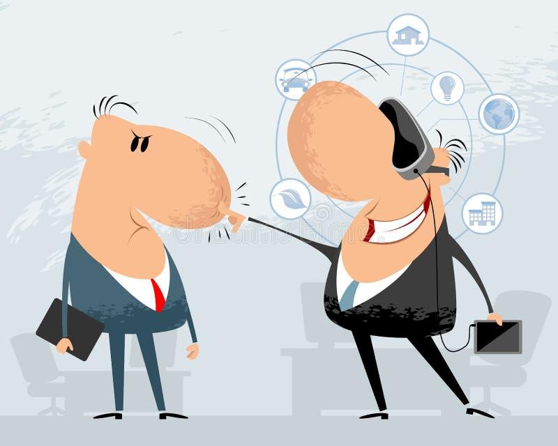 biznesmeni śmieszni dwa royalty ilustracja