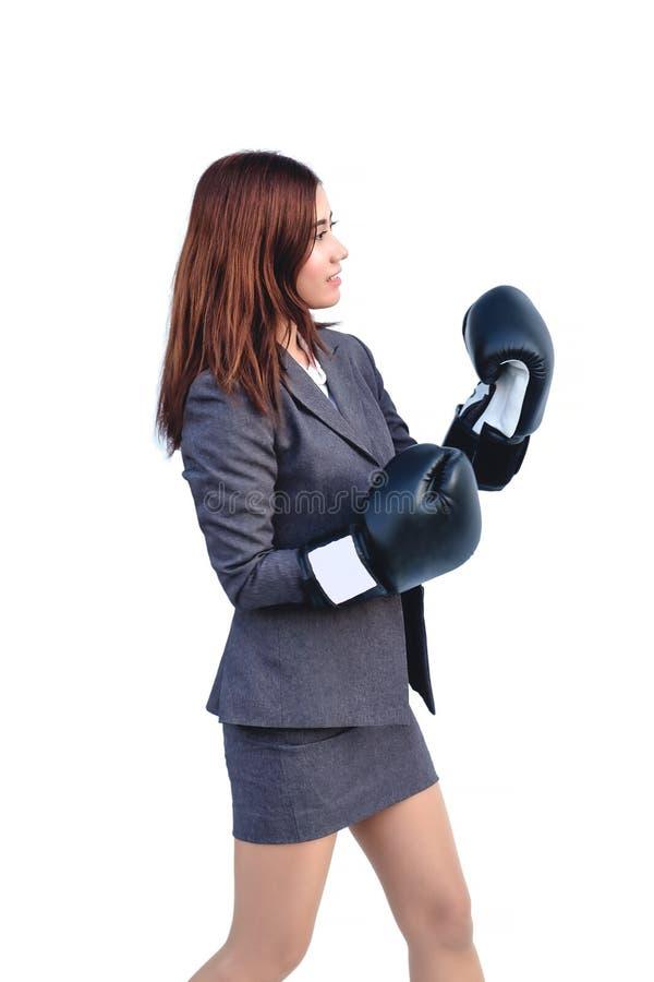 Biznesmeni byli ubranym bokserskie togi w różnorodnych pozach i nastrojach pracować obrazy stock