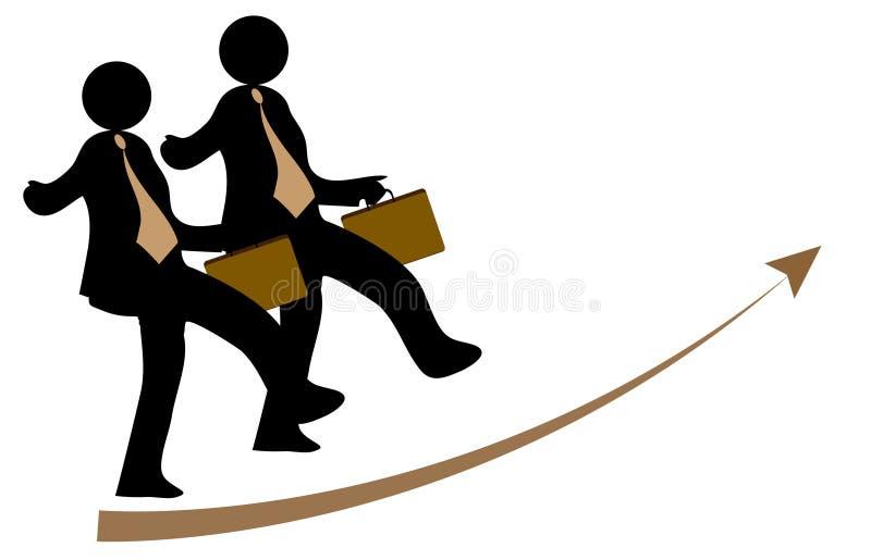 Download Biznesmeni dwa ilustracja wektor. Obraz złożonej z związek - 25361010