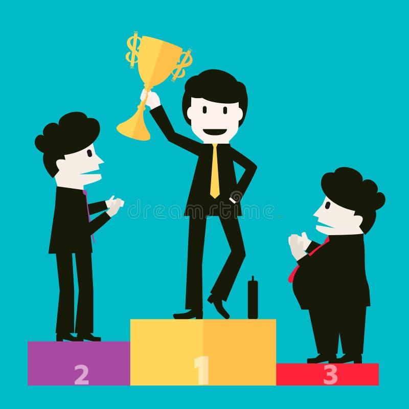 Biznesmeni gratulowali zwycięzców royalty ilustracja