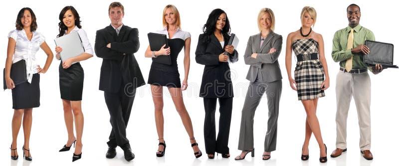 biznesmeni grupują pozycję obraz royalty free