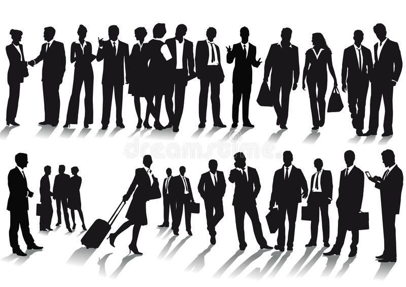 Biznesmeni i biznesowe kobiety ilustracja wektor